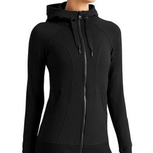athleta / black zip up hoodie athletic jacket